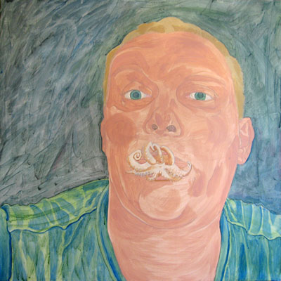 painting of Vlady with Octopus Lips - step 3