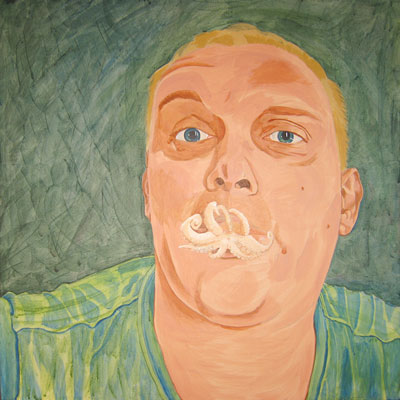 painting of Vlady with Octopus Lips - step 4