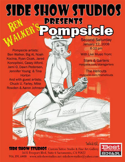 Pompsicle gallery show