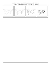 two-point perspective worksheet: dice