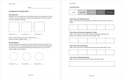 teacher. Blog Archive » Art Worksheet: Shading Techniques in Pencil