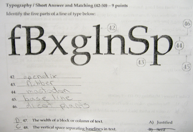 funny test. Creative Test Answers